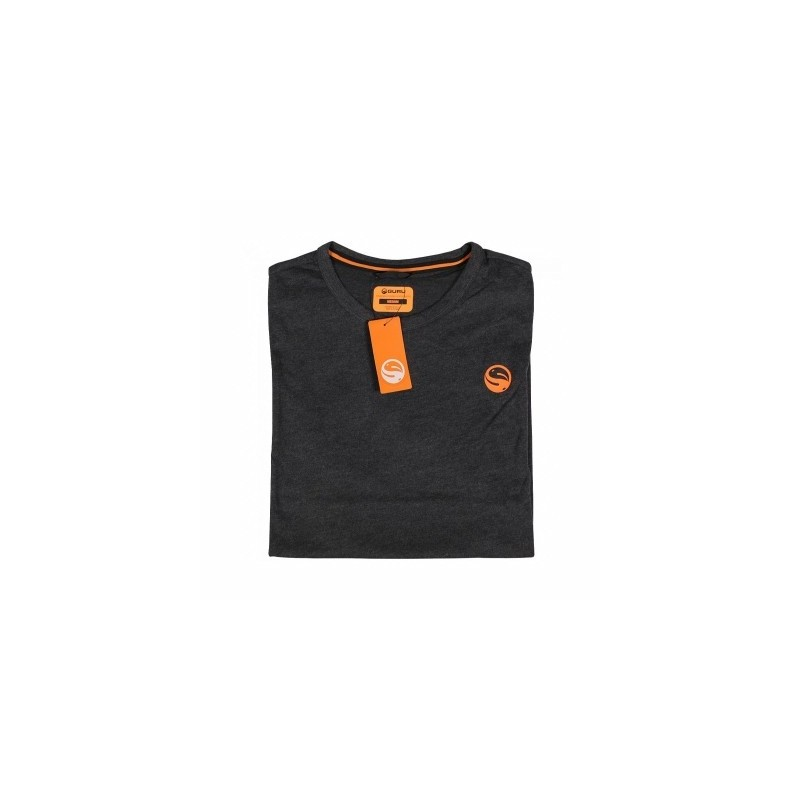 Guru Brush Logo T-Shirt Heather Charcoal