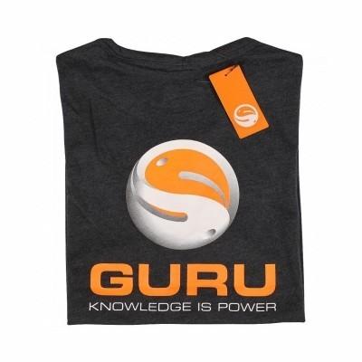 Guru Brush Logo T-Shirt Heather Charcoal Rear