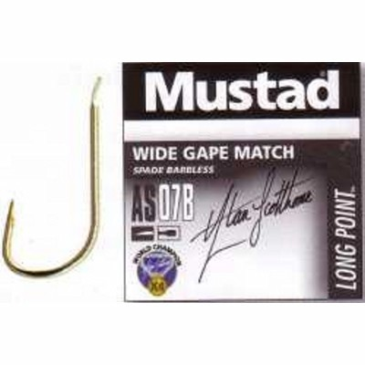 Mustad Wide Gape Match Barbless AS07B