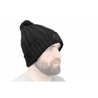 Preston Black Bobble Hat (PKHAT3)