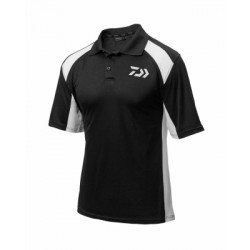 Daiwa Polo Shirt Black & White (2018)