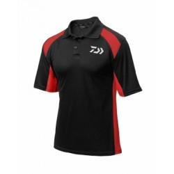 Daiwa Polo Shirt Black & Red (2018)