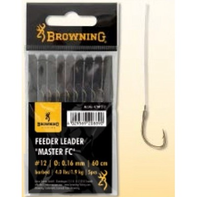 Browning Feeder Hooks To Nylon 'Master' Fluorocarbon