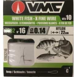 VMC 7032 X Fine Wire Nickel Tied Hooks