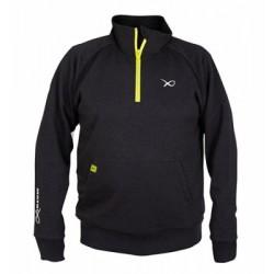 Matrix Minimal Black Marl 1/4 Zip Sweater