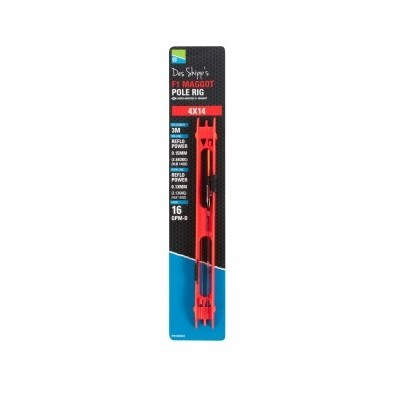 Preston DS F1 Maggot Pole Rig (Red Bristle)
