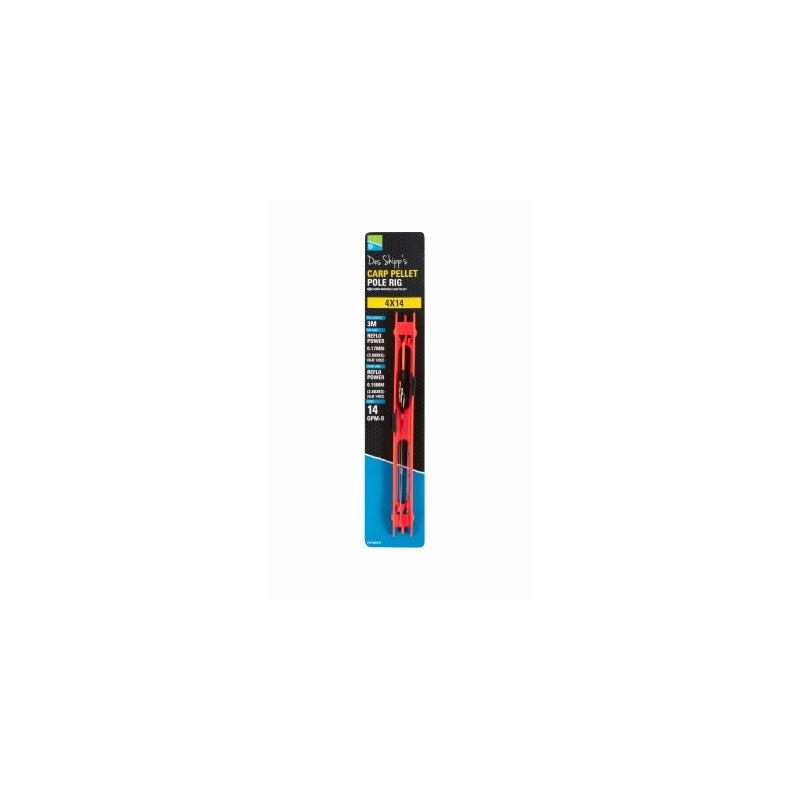 Preston DS Carp Pellet Pole Rig (Red Bristle)