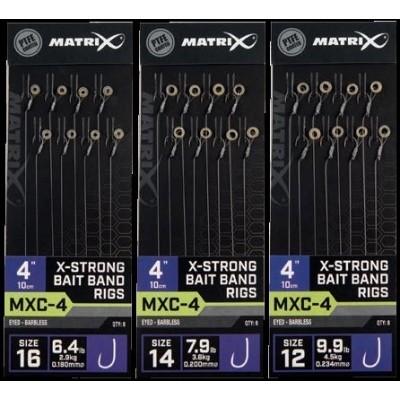 Matrix MXC-4 X-Strong Bait Band Rigs 10cm