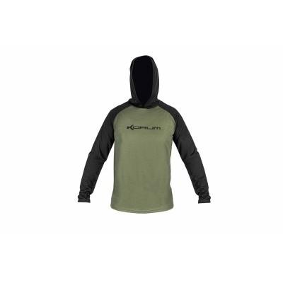 Korum Hooded Dri-Active Long Sleeve T-Shirt