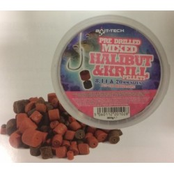 Bait-Tech Drilled Halibut & Krill Pellets